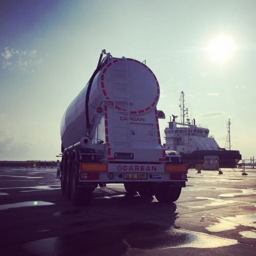New cement truck ready for shipment to Ukraine