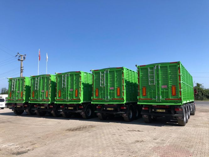 The first of four deliveries of semi-trailers for Euro Trans Agro